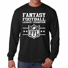 Shirt Fantasy Football Long Sleeve Funny S League Tee Sports Legend NFL Champion