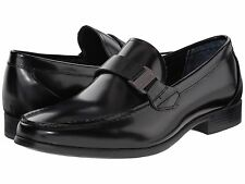 Calvin Klein Mens Loki Bit Stap Slip On Business Casual Loafers Dress Shoes
