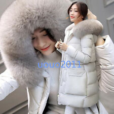 womens fur collar winter coat white duck down jacket Outdoors warm slim fit hot