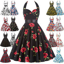 Womens 60s 50s Retro Vintage COCKTAIL Dress Swing Pinup Party Dress PLUS SIZE