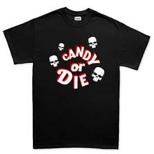 Candy Or Die Halloween Funny Costume Mens T shirt Tee Top T-shirt
