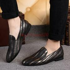 Vintage Mens oxford Brogue slip on loafer casual dress business shoes