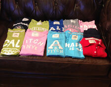 ABERCROMBIE & FITCH, HOLLISTER WOMEN T-SHIRT YOUR CHOICE BLUE,PINK,GRAY,RED  L