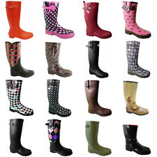 LADIES FUNKY RUBBER WELLIES BOOTS WOMENS SIZE 3 4 5 6 7 8 9 CREAMFIELDS FESTIVAL