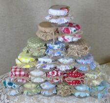 Pick & Mix Shabby Chic Floral Covers For Mini Jam Jars Wedding Favours 1oz 1.5oz