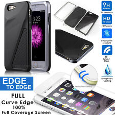 [Thin Fit] Matte Finish Dual Layer Hard Case for iPhone 6 with 3D Tempered Glass