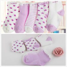 5 Pairs Baby Boy Girl Cartoon Cotton Socks NewBorn Toddler Kids Soft Sock New