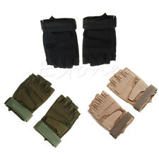 Men Half Finger Outdoor Gloves Military Tactical Airsoft Hunting Riding Cycling