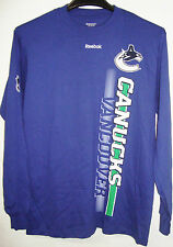 REEBOK NHL VANCOUVER CANUCKS VERITCES LONG SLEEVE T-SHIRT BRAND NEW