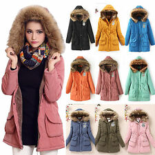 Fashion Women's Winter Fleece Faux Fur Coat Hooded Parka Long Jacket Overcoat