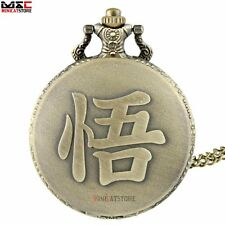 New Vintage Dragon Ball Pendant Antique Pocket Watch Quartz Necklace Chain Gift