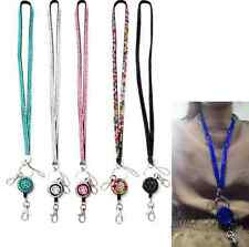 Neck Rhinestone Lanyard Retractable Strap ID Badge Reel Phone Key Holder tool