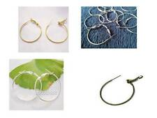 * ASSORTED PACKS OF 10 HOOP EARRING FINDINGS - CHOICE OF COLOUR AND SIZES