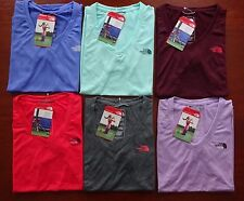 North Face Women's Short Sleeve Reaxion Amp V-Neck T Shirt NWT New Fit