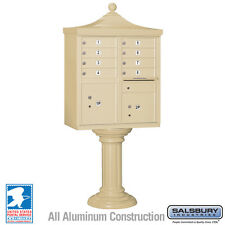 8 Door Salsbury Regency Decorative Cluster Mailbox - USPS Approved - 5 Colors