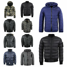 Mens Brave Soul Puffa Jacket Padded Hooded Puffer Coat Bomber Sizes S to XL