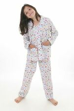 Girls winter pyjamas, traditional style pjs, Ditsy Floral Design BNWT Age 1-10