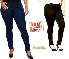 Avenue Womens plus size stretch soft Butter Denim Skinny Legging Jean BLUE&BLACK