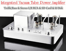 HiFi Vacuum Tube Amplifier Stereo Audio Integrated Hybrid Power Amp USB /SD Card