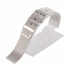 18/20/22mm 24mm Silver Mesh Stainless Steel Buckle Straight End Watch Strap Band