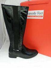 Heavenly Feet Vex Black Patent Boots Sizes 4-7 EE 327