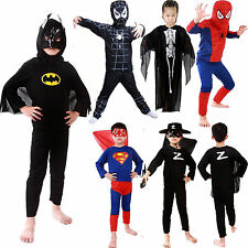 Kids Boys Superhero Spiderman Batman Fancy Dress Cosplay Costume Outfit Clothing