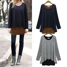 Oversized Womens Batwing Sleeve Long Baggy Sweater Pullover T-Shirt Blouse Tops
