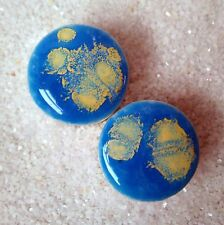 Pair - Cumulus Clouds Glass Ear Plugs Double-flared Gauges Stretchers Tunnels