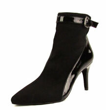 NEW Dolce Vita Valva Black Zip UP Buckle Detail Ankle Boots