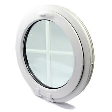 uPVC-Window Round circular double glazed VEKA-with georgian bar-handle on top!