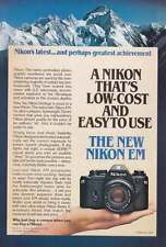 1979 Nikon EM Camera: Mountains Print Ad (17993)
