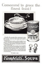 1925 Campbells Soups: Consomme to Grace the Finest Print Ad (23393)