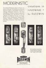 1930 Russwin: Modernistic Creations in Hardware Print Ad (15202)