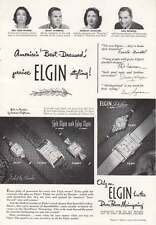 1950 Elgin Watches: Lord Elgin and Lady Elgin Print Ad (18567)