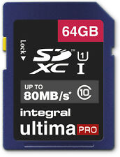 64GB Memory card for Blackmagic Camera | Class 10 80MB/s Speed SD SDXC New UK