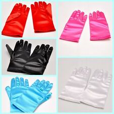 Flower Girl Dress Prom Wedding Birthday bridesmaids girls' short gloves mittens