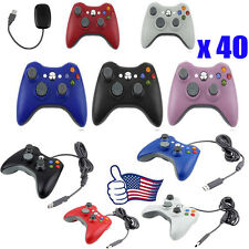 LOT 40 Wired Wireless Game pad Remote Controller for Microsoft Xbox 360 Console