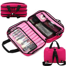 Professional Cosmetic Tools Storage Pouch Handbag Travel Case Makeup Train Bags