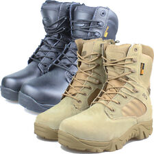 MILITARY DESERT BOOTS: Water-Resistant, Desert Tan Boots, Khaki US Army Boots