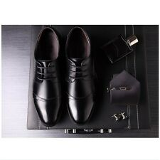 Smooth Mens Casual Pointed Leather Lace Up Wedding Formal Dress Oxfords Shoes