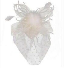 Party Fascinator Veil Wedding Decor Hair Accessory Feather Flower Clip Hat Charm