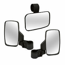 Polaris RZR Ranger UTV Break-Away Side and Center Mirror Shatter-Proof SET NEW