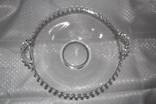 Vintage 1930's Imperial Glass Crystal Candlewick large handled clear bowl