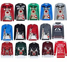 Ladies Womens Mens Unisex Christmas Jumper Sweater  Knitted Novelty Xmas