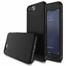For Apple iPhone 7 6S/6 Plus Allergy-proof Carbon Fiber Pattern TPU Case Cover