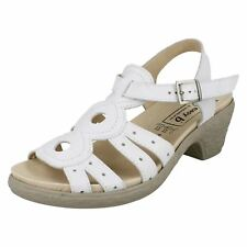 Easy B 78405W Tamsin Ladies Sandals White UK4-6 EE-4E Fit (R23B)