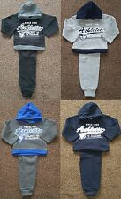 Boys Kids Winter Warm 2 Piece Hooded Top & Joggers Sports Jog Suits Tracksuits