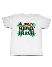 A wee BIT O' IRISH 4 Four Leaf Clover St Pattys Day Distressed Adult T-Shirt Tee