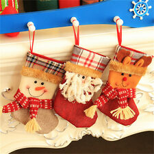 Christmas Stocking Santa Claus Hanging Gift Bag Decoration Party Ornament JG