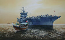 """A Guest of the King"" Tom Freeman Limited Edition Print - USS Enterprise"